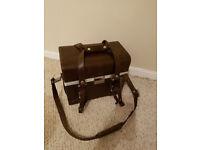 Large Vintage Leather Camera Carry Case