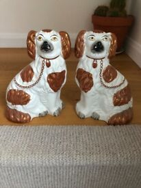 Porcelain / China dogs a pair, figurines