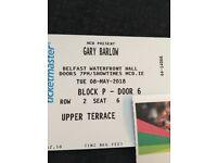 2x Gary Barlow Tickets £100 8th May belfast waterfront hall