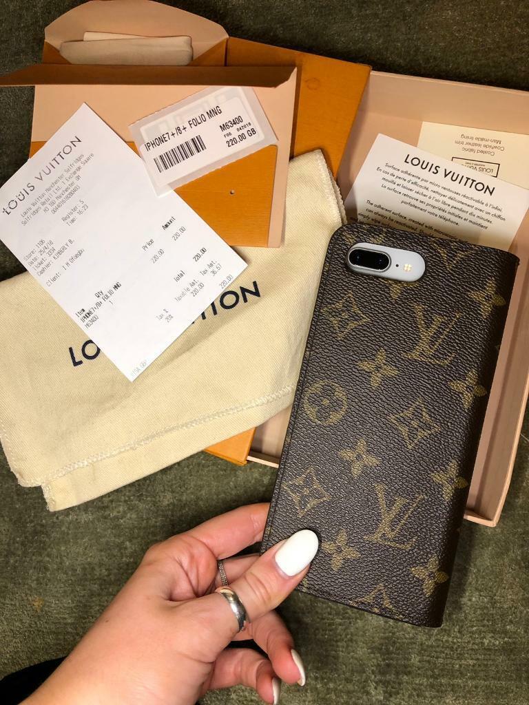 460cdd2053 iPhone 7/8 Plus Louis Vuitton Folio Monogram Case | in Kingston, London |  Gumtree