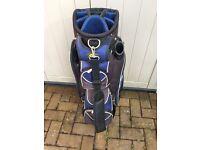 Powakaddy golf cart bag with rain hood