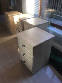 4 drawer beech bedside unit