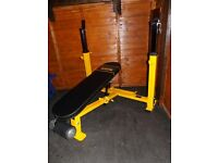 Powertec olympicheavy duty incline decline bench press
