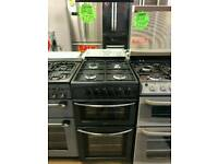 BELLING 50CM GAS DOUBLE OVEN COOKER IN BLACK