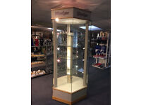 HEXAGONAL ILLUMINATED GLASS DISPLAY CABINET SHOP/RETAIL UNIT (Lilliput Lane logo)