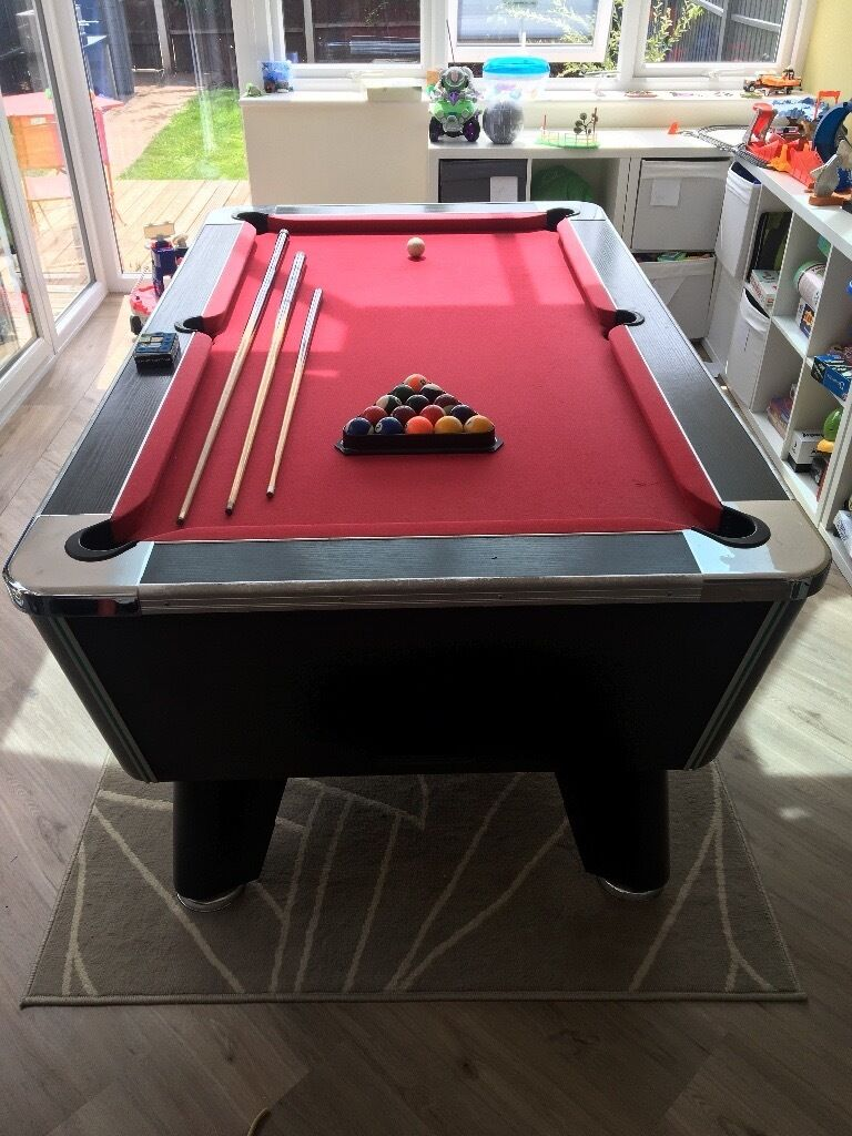 Slate Bed Pool Table + Accessories