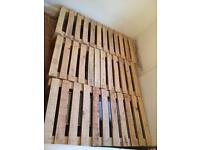 Treated wooden pallets