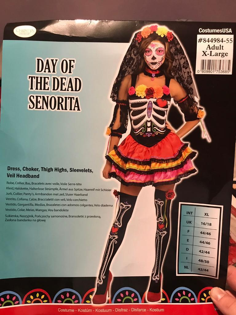 day of the dead halloween costume | in plymouth, devon | gumtree