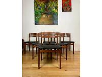 Stunning Mid-Century Danish Teak Chairs Set of Six FREE LOCAL DELIVERY