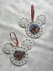 2 DISNEY China Christmas Hanging Ornaments