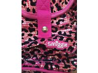 Girls smiggle rucksack in leopard print with handy pockets and compartments