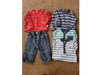 Large baby boys clothes bundle 3-6 months jeans, tops, jumpers, dungarees etc