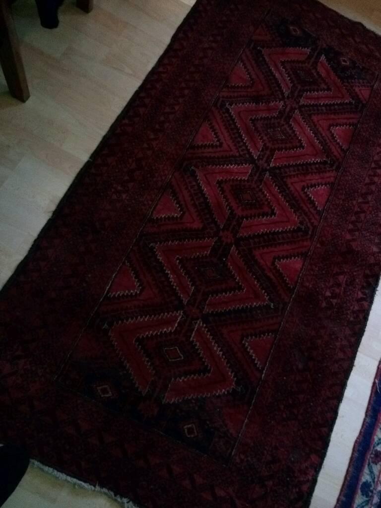 Persian vintage Rug. 92 x 177 cm