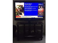 """Samsung 37"""" television with stand"""