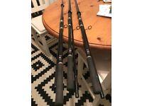 Daiwa Infinity X Long Distance Carp Rods x 3
