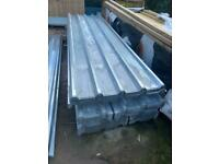 NEW ~ GALVANISED BOX PROFILE ROOF SHEETS ~ 8FT