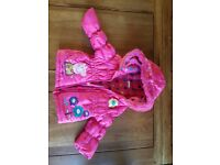 [EXCELLENT CONDITION] LOVELY PINK PEPPA PIG JACKET - 9-12 MONTHS