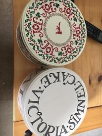 Emma bridgewater cake tins