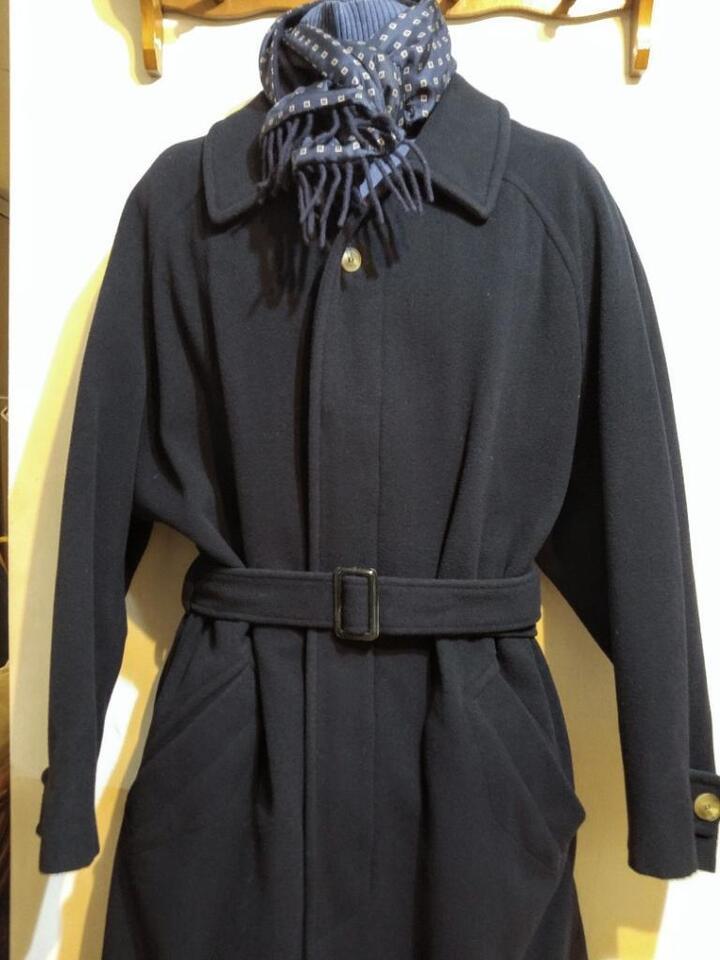 660007f411 Mens 44R LUXADOR Malta Long Wool Overcoat   Christian Dior Silk Wool ...