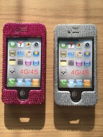 2 iPhone 4 / 4S Bling Cases - Brand New
