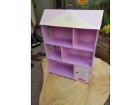 Childs 'Dolls House' bookcase / shelf unit