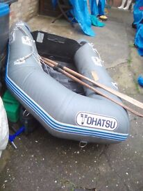 Dinghy rib and oars