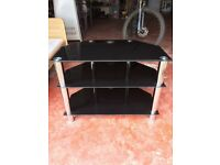 Black gloss TV/sound system unit