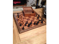 jaques london chess set and board