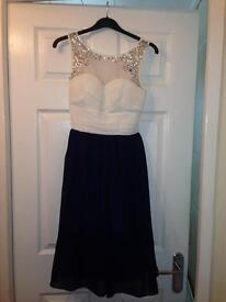 Gorgeous dress cream and navy