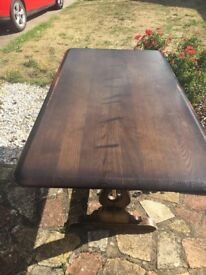 ERCOL DINING ROOM TABLE, COLLECTION ONLY FROM ABINGDON