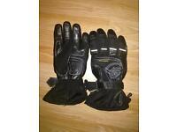 Motorbike gloves.