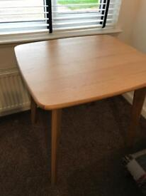 Brand new assembled dining table