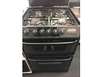 CANNON 60CM ALL GAS COOKER IN BLACK WITH LID