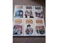 Doctor Who Target Books x 6 - New