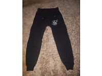 Mens black sik silk bottoms size small