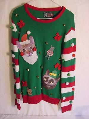 UGLY CHRISTMAS SWEATER KIT - Cats and Dingleballs- Women's Size - Ugly Christmas Sweater Kit