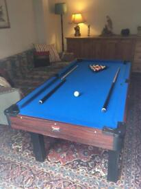 Pool Table with Table Tennis Top