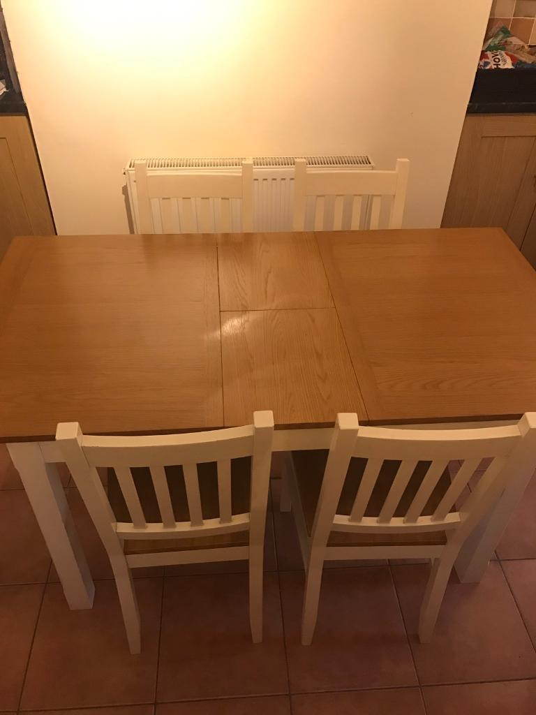 Homebase Chilton Extending Dining Table And 4 X Chairs
