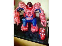 Marvel spidersapein robot with remote 2004