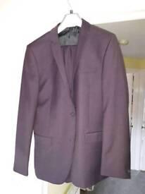 Men's purple suit