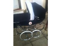vintage silver cross dolls pram