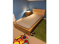 Ikea Single bed frame and mattress (optional)