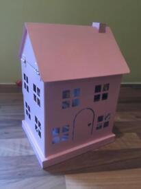 Next. House lamp. Pink metal