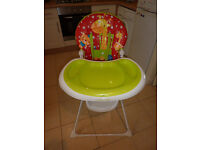 Mothercare Little Circus Baby Feeding Foldable High Chair