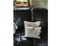 2 seater brown leather sofa idenical to laura ashley