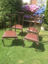 1930s dining chairs x 4