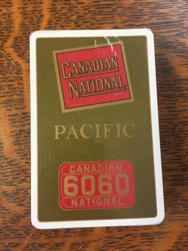 Vintage CANADIAN NATIONAL Railroad Pacific Single Deck Playing Cards NOS NEW