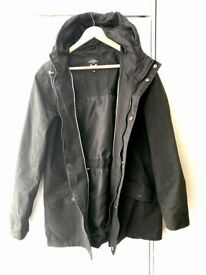 Men's Medium Parker Jacket with detached zip (needs fixing)
