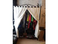 2 Cast Iron Canvas Wardrobes
