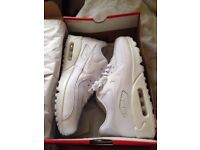 Brand new size 9 white airmax trainers.